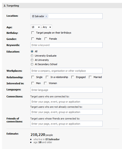 facebook advertising settings ESA mar 4 2010