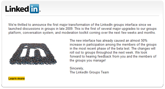 linkedin new groups