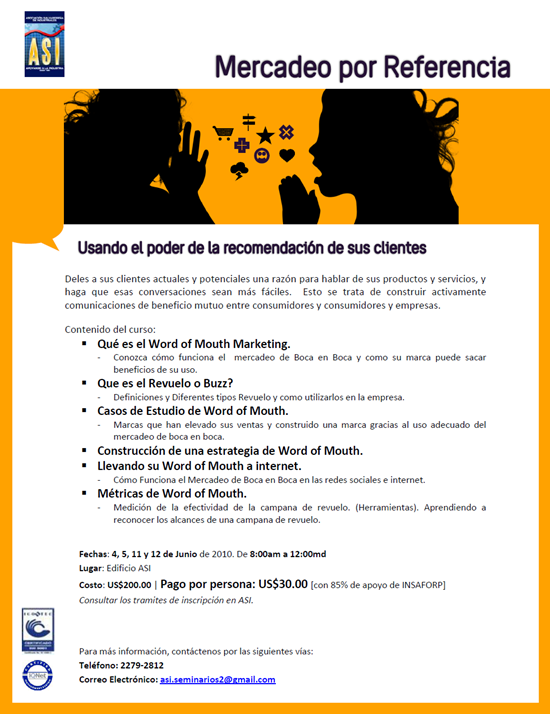Marketing por Referencia - Seminario de WOM ASI