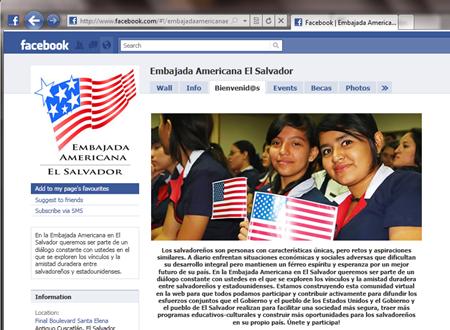 embajada americana el salvador en facebook