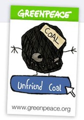 greenpeace facebook coal