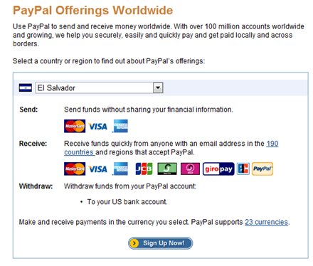 paypal offerings