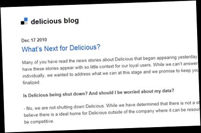 delicious blog future